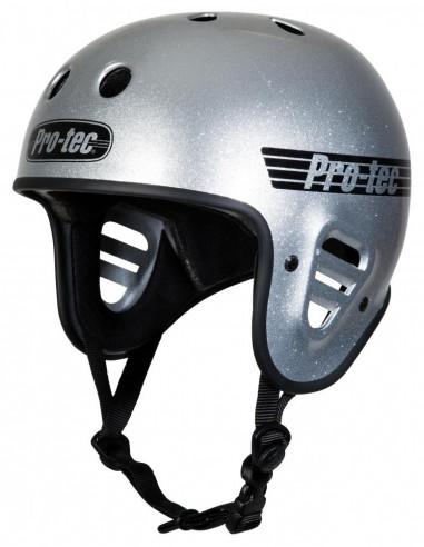 casco pro-tec full cut plateado