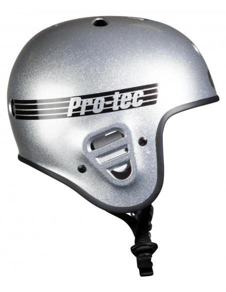 Comprar casco pro-tec full cut plateado