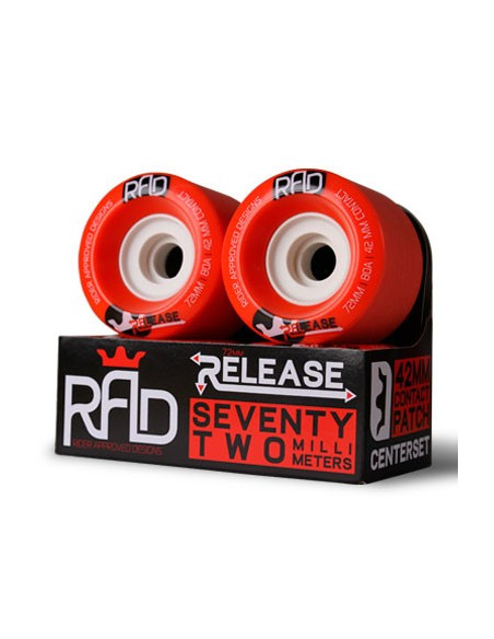 rad wheels release 72mm 80a
