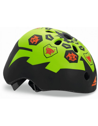 casco rollerblade twist jr negro-lima