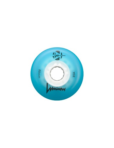 rueda luminous azul