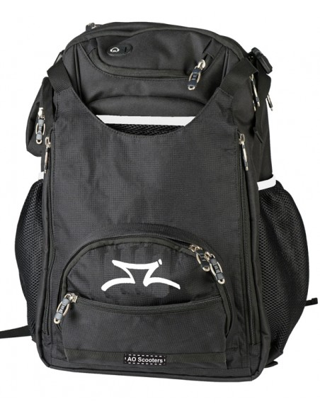 ao scooter transit backpack black - white