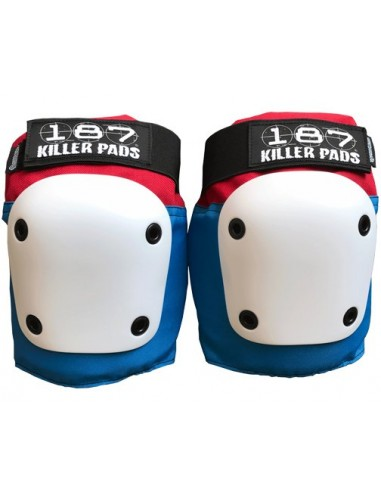 187 fly knee pad white-blue
