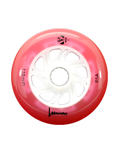 luminous wheel 110mm red