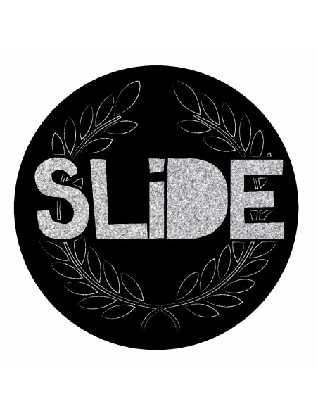 sticker circle slide glitter