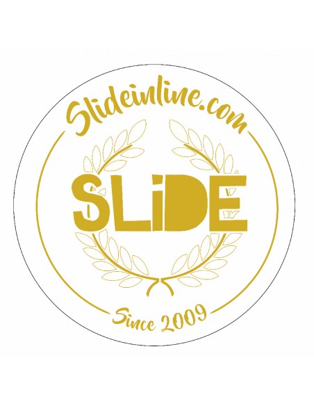 sticker circle slide gold