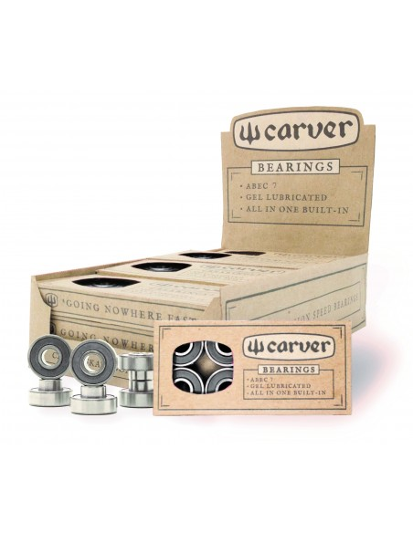 carver abec 7 built-in bearings | 8 pack