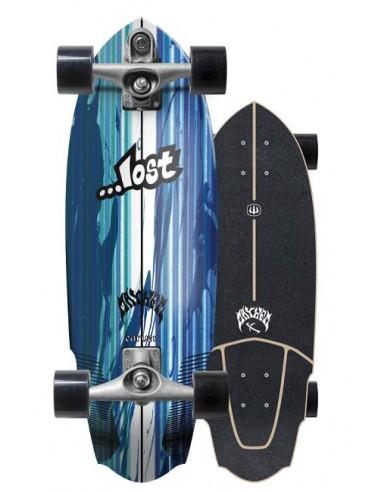 """lost x carver v3 rocket 30"""" surf skate completo"""