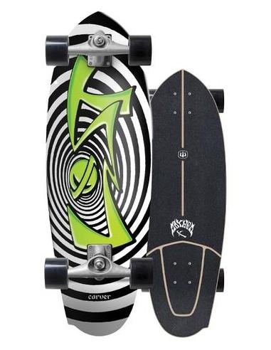 "lost x carver maysym 30.5"" surf skate completo"