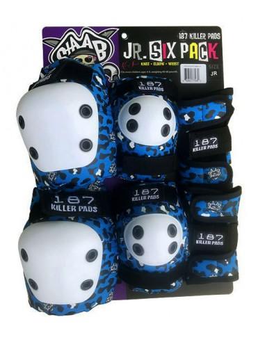 187 six pack junior blue | junior pads
