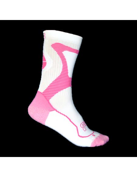 calcetines fr - nano sport socks rosa-blanco