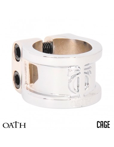 oath clamp cage oversized neo-silver