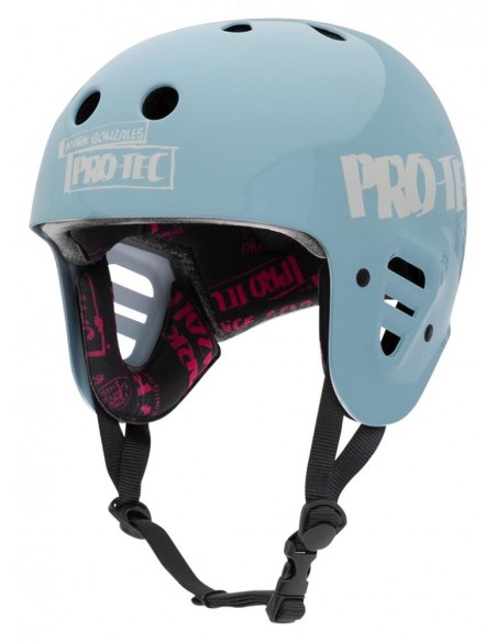 pro-tec full cut helmet gonz 2 light blue