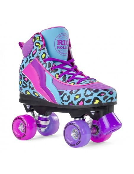 rio roller leopard quad skates | patines 4 ruedas