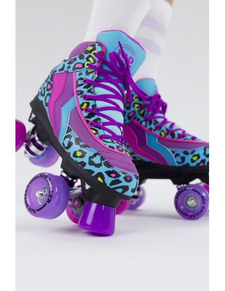 Comprar rio roller leopard quad skates | patines 4 ruedas