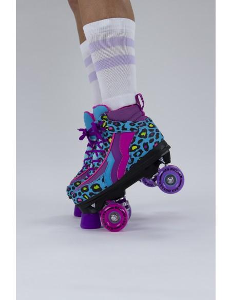 Precio de rio roller leopard quad skates | patines 4 ruedas