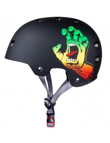 bullet x santa cruz helmet | screaming hand rasta