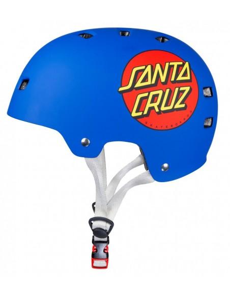 casco bullet x santa cruz helmet   classic dot azul mate