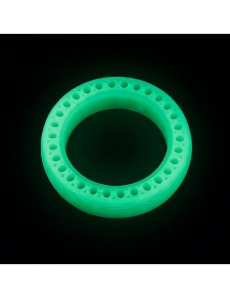 rueda maciza abejada doble suspensión fluorescente | repuestos patinete eléctrico