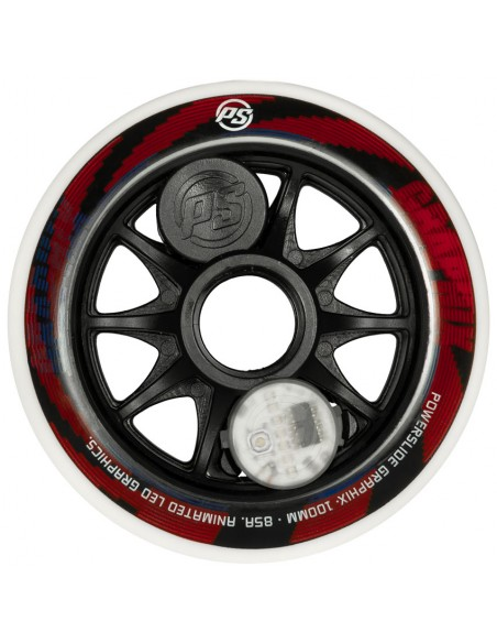 powerslide graphix wheel 100mm | colorful