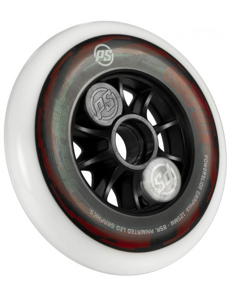 Características powerslide graphix wheel 125mm | colorful