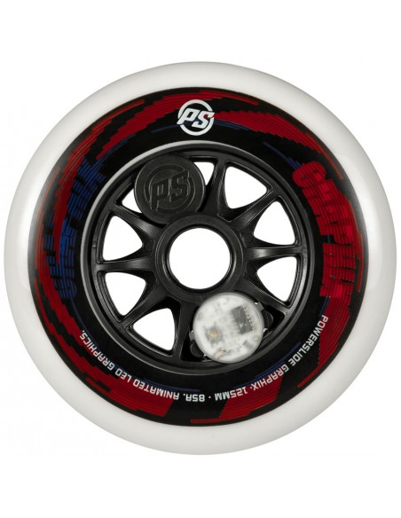 powerslide graphix wheel 125mm | colorful