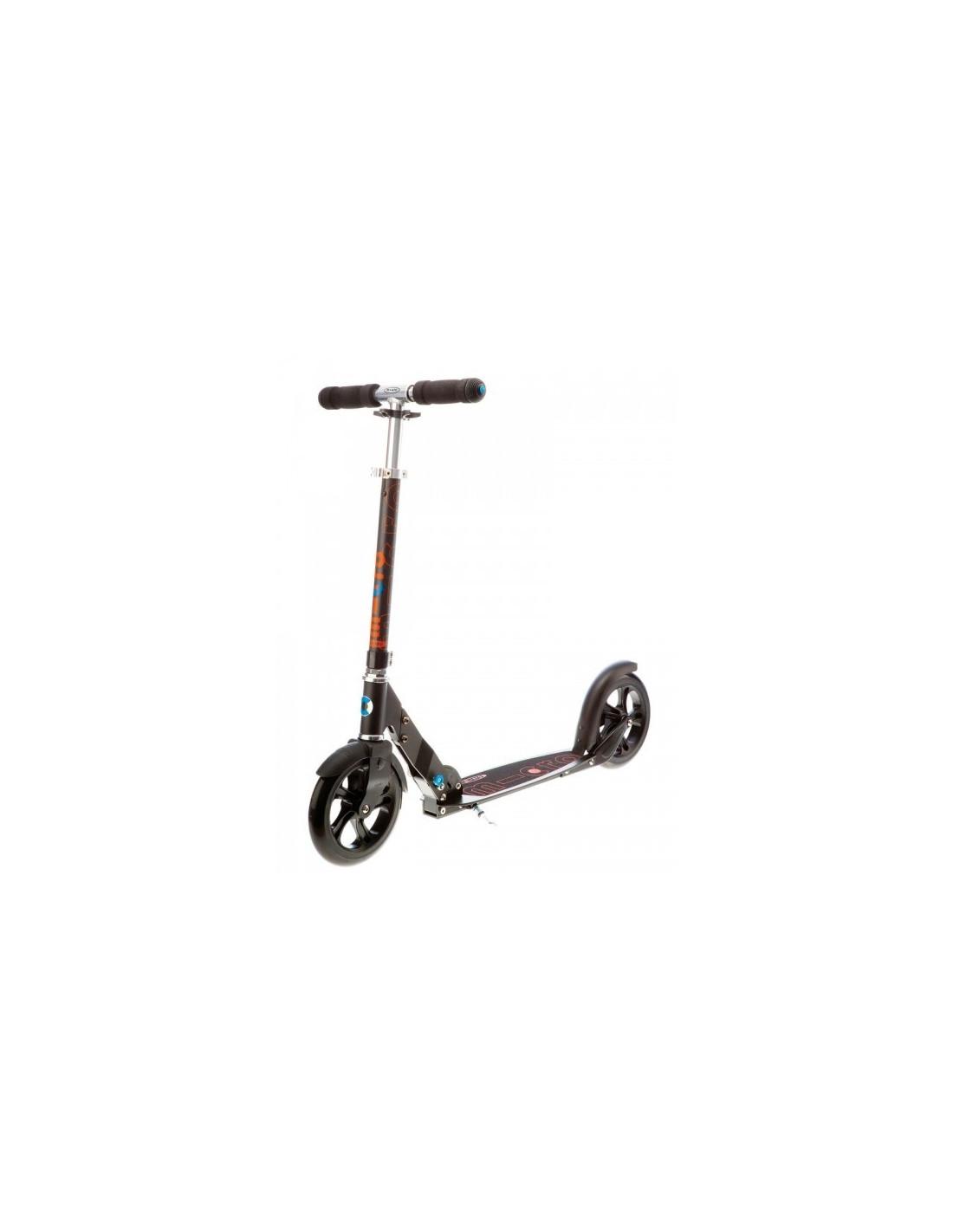micro scooter black best price on slide in line. Black Bedroom Furniture Sets. Home Design Ideas