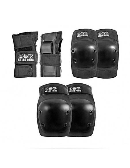 Comprar 187 six pack junior black   junior pads