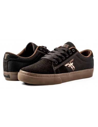 fallen bomber sandoval black dark gum | skate shoes