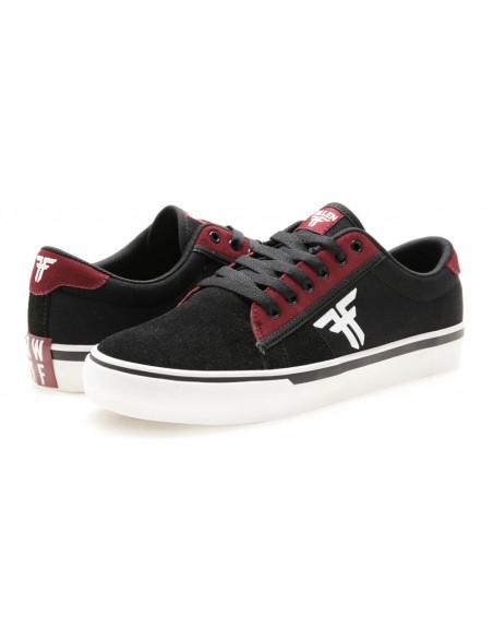 fallen bomber rwtf black crimson white    skate shoes