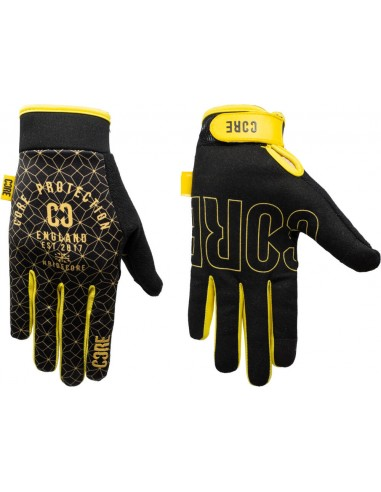 core protection gloves | gold-black