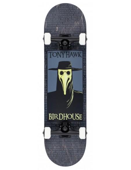 "birdhouse skateboard stage 3 plague doctor 8"" black"