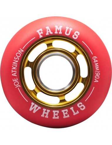famus joe atkinson agressive wheels | gold | 64mm 90a - 4pack