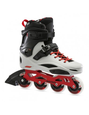 patines rollerblade rb pro x   gris-rojo calido