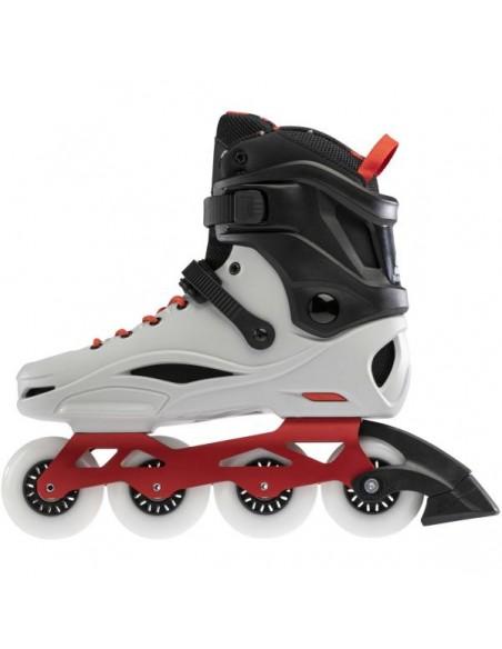 Tienda de patines rollerblade rb pro x   gris-rojo calido