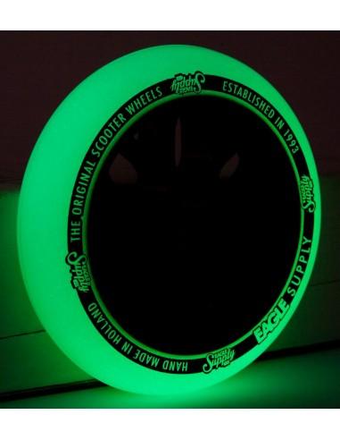 eagle wheel standart x6 core glow in the dark - yellow  110mm