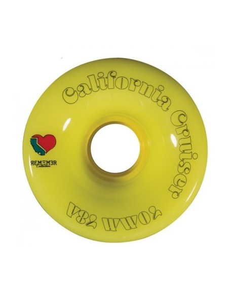 remember wheels california cruiser 70mm 78a | yellow