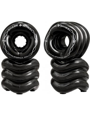 ruedas shark wheels 60mm 78a | california roll negro