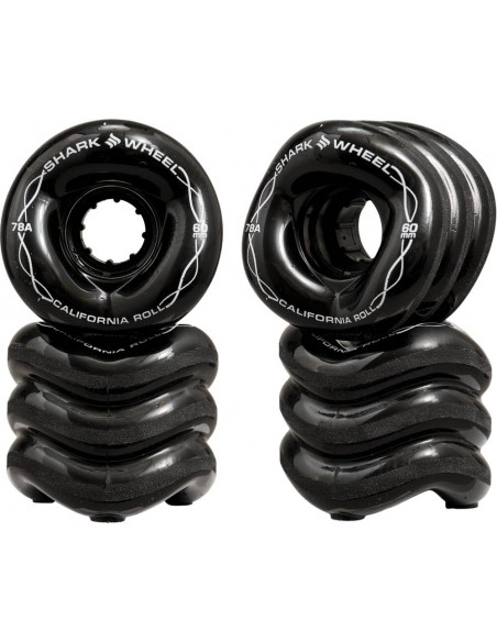 shark wheels 60mm 78a | california roll black