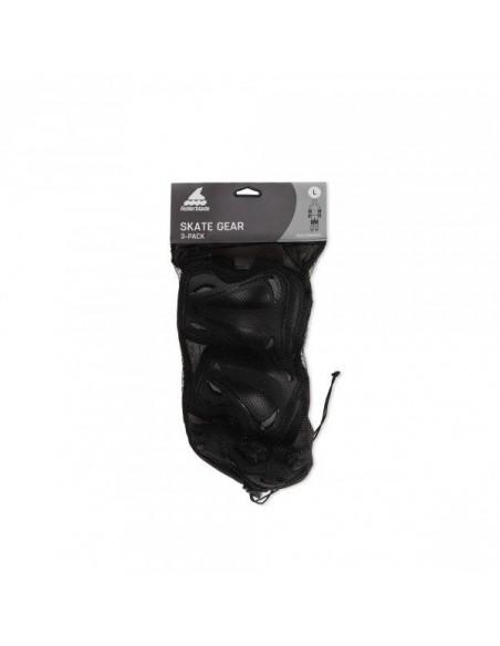 Venta protecciones rollerblade skate gear | 3 pack negro