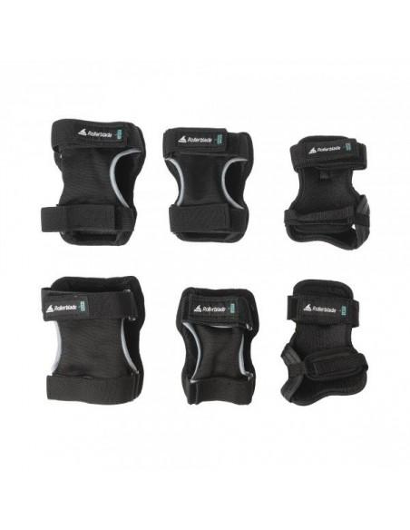 Tienda de protecciones rollerblade skate gear | 3 pack negro