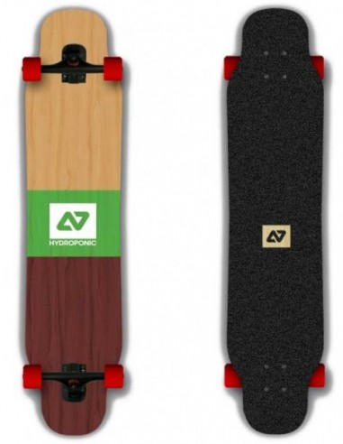 """hydroponic vicky 47.6""""x 9"""" cut ply - complete longboard"""