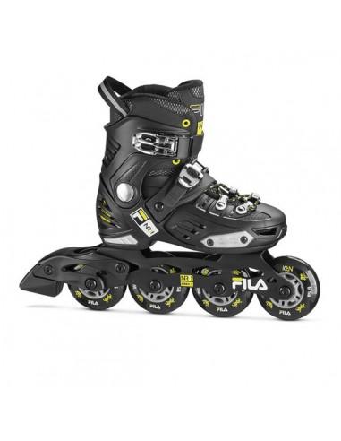 fila skates nrk boy junior | black-lime-light blue