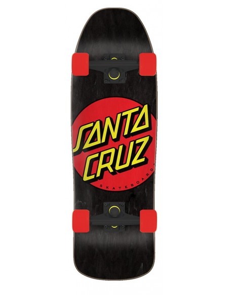 "santa cruz classic dot 9.35"" x 31.7"" 80s cruzer - black"