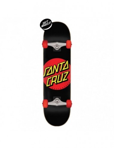 "santa cruz classic dot super micro 7.25"" x 27"" black"
