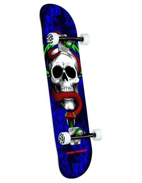 "powell peralta skull & snake one off royal blue birch 7.75"" x 31.08"" complete skate"
