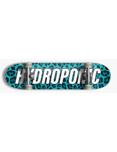 """hydroponic leopard turquoise 7.875"""" - complete skate"""