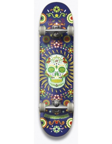 """hydroponic mexican skull navy 7.25"""" - complete skate"""