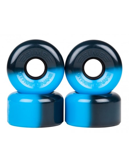 sims quad wheels street snakes 62mm 78a - azul/negro - 4pack